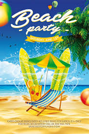Beach Flyer Beach Party Free Poster Template Download Summer Flyer Designs