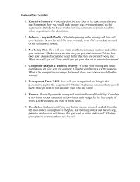 Business Plan Template Executive Summary