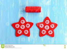 Nähender Roter Weihnachtsstern Diy Nähen Sie Die Weißen