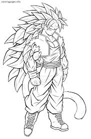 Goku Super Saiyan 5 Coloring Pages Coloring Pages Dragon Ball