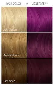 Pink Hair Colour Chart Arctic Fox Hair Color Violet Dream Purple Semi Permanent