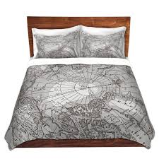 black white old world bedding duvet cover