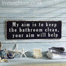 metal plaque keep bathroom clean