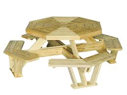 outdoor wood furniture picnic table with benches