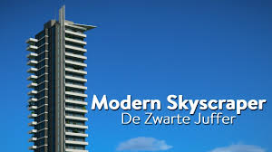 architecture blueprints skyscraper. Planet Coaster Blueprint Creation - Modern Skyscraper #1 (De Zwarte Juffer) Architecture Blueprints O