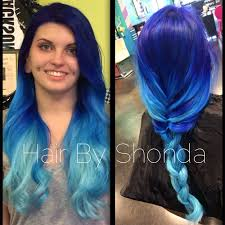 how to ocean blue ombre