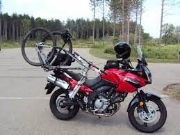 carry a bike on a motorcycle