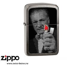 <b>Зажигалка</b> широкая <b>Zippo</b> Replica 1941 <b>George Blaisdell</b> Black Ice ...