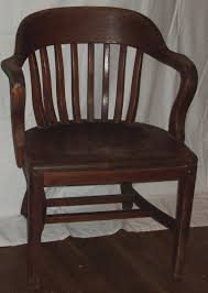image of wooden desk chair without wheels