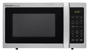 sharp 0 7 cu ft 700w sharp stainless steel carousel countertop microwave oven