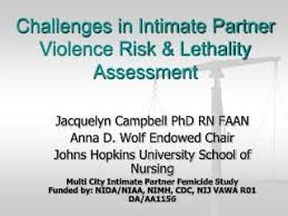 Challenges In Intimate Partner Violence Risk Lethality