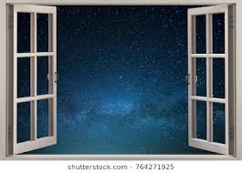 open window at night. Fine Open Open Window With A View Of The Starry Sky On Window At Night P