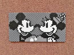 Perler Beads Mickey Mouse Designs Long Black Fingers Mickey And Minnie Mouse Perler Bead