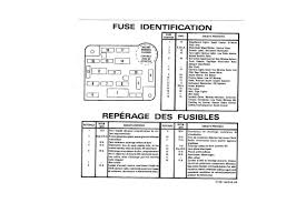 1987 89 ford mustang ford mustang fuse identification decal