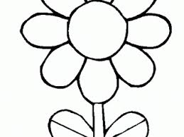 Small Picture Coloring Cartoon Daisy Flower In Decor Picture Coloring Page