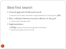 informed search a algorithm outline informed use 4 best first