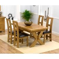 oak extending dining table 4 chairs. image of: bellano solid oak extending dining table - 4 girona chairs with leather seats e