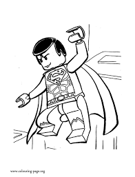 Small Picture The Lego Movie Lego Superman coloring page