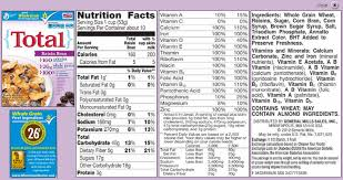 total raisin bran cereal nutrition facts