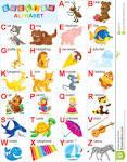 Английский алфавит в раскрасках для детей