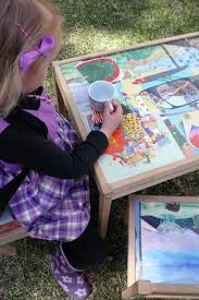 decoupage your child s art table with vine book images