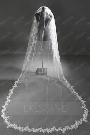Loving Cathedral Length Ivory Lace Wedding Veil 10526988