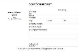 501c3 Tax Deductible Donation Letter Receipt Template