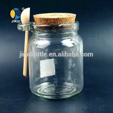Decorative Spice Jars Wholesale Round Glass Spice Jar With Wooden Lid And Spoon Buy 32