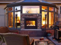 new heat glo indoor outdoor fireplace with safe exterior glass