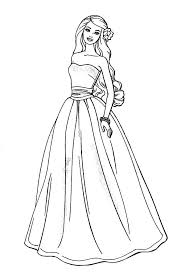 Awesome Barbie Doll Coloring Page Coloring Books Barbie Coloring