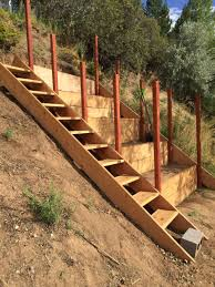 Steep Hill Garden Design Steep Hillside Terraces With Staircase To Be Turned Into A