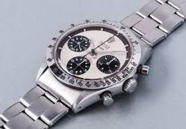Rolex An Extremely Rare And Highly Attractive Stainless