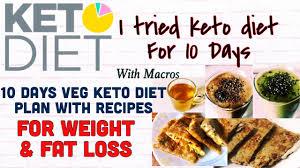 Keto Indian Diet Chart I Tried Keto Diet 10 Days Indian Veg Keto Diet Plan Macros Recipes Weight Fat Loss Hindi