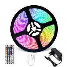 RGB Dây Đèn LED Chống Thấm Nước 2835 5M 10M DC12V Fita LED Dây Neon LED 12V  Dẻo ledstrip Với Bộ Điều Khiển Và Adapter|LED Strips