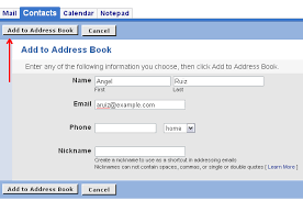 Steps For Adding Addresses To Your Address Book