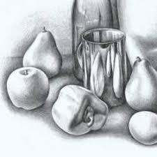 still life with pencil