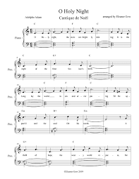 This trumpet sheet music for o holy night is in the key of g (concert f), to play with other winds and brass. O Holy Night Eleanor Gow Scottish And Other Songs Easy Arrangements Free Sheet Music
