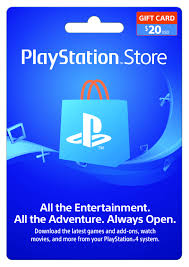 playstation 20 gift card sony