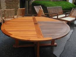 round teak table top