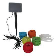 smart solar 20 light led multi color chinese lantern string light set