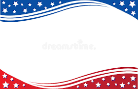 American Flag Template Poster Or Postcard Background United
