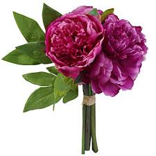 Yufenge Artificial Flowers Peony Bouquet Silk Home ... - Amazon.com
