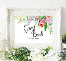 Printable Wedding Reception Seating Signage Guest Book Cards And