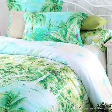 turquoise bedding sets double blue green queen king size palm tree silk turquoise bedding sets