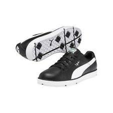 puma golf shoes. new puma pg clyde mens golf shoes 185821-02 black / white - 7 medium