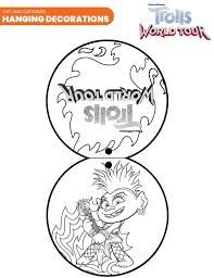 Trolls coloring pages are printable images related to one of the best musical comedy animated film for children of recent years. Free Printable Trolls World Tour Party Pack With Activity Coloring Pages