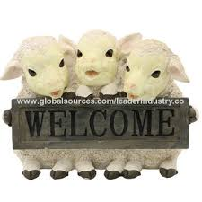 china bsci factory polyresin trio sheep