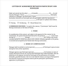 letter of agreement template sample business agreement sample letter