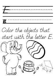 Letter E Coloring Pages Preschool#416614