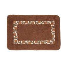 brown rajasthan bath rug